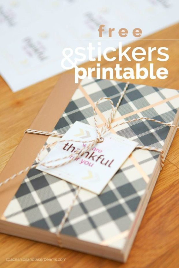 Free Thankful Printable Tag