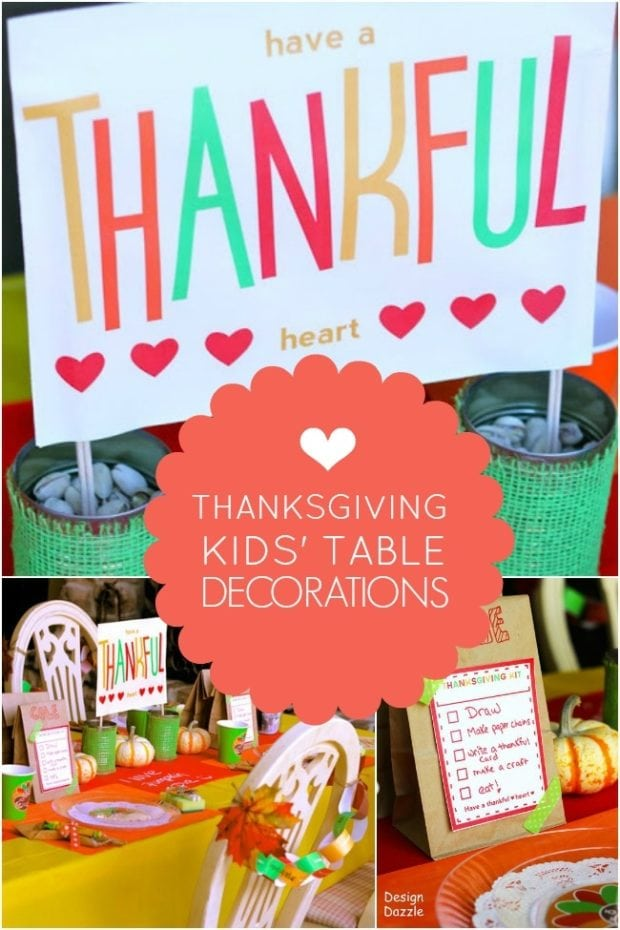 Unique thanksgiving kids table decorations spaceships