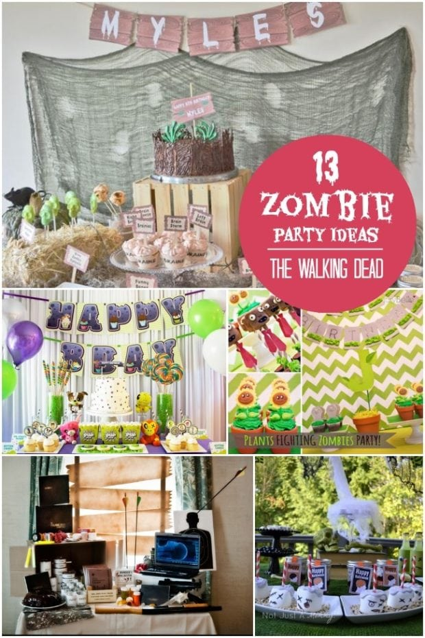 Walking Dead Zombie Birthday Party Ideas