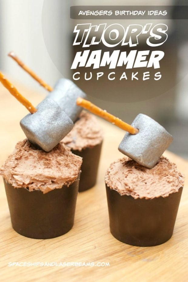 Kid S Party Food Thor S Hammer Cupcakes Sendsmiles