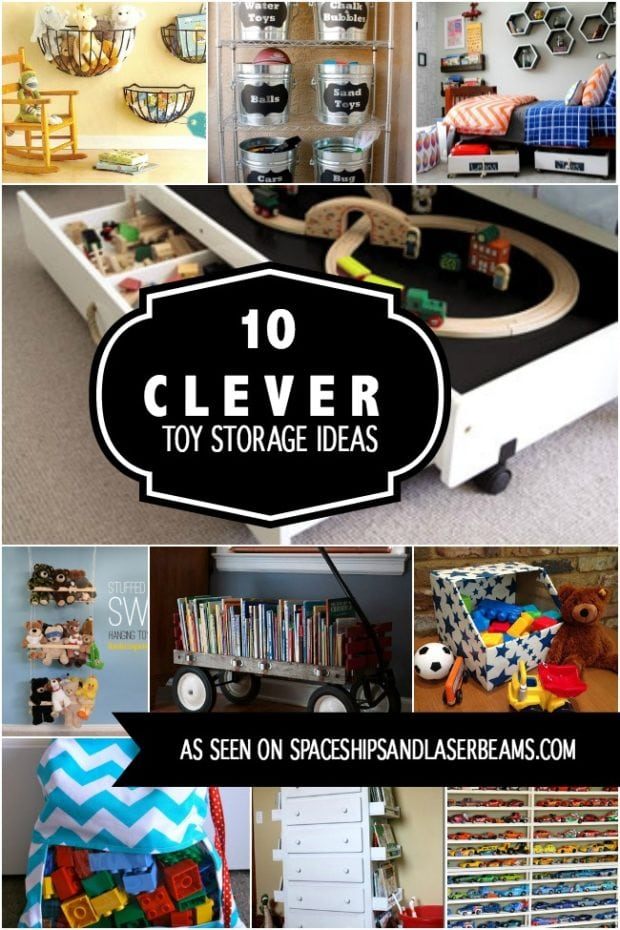 10 clever toy storage ideas spaceships and laser beams Toy storage ideas