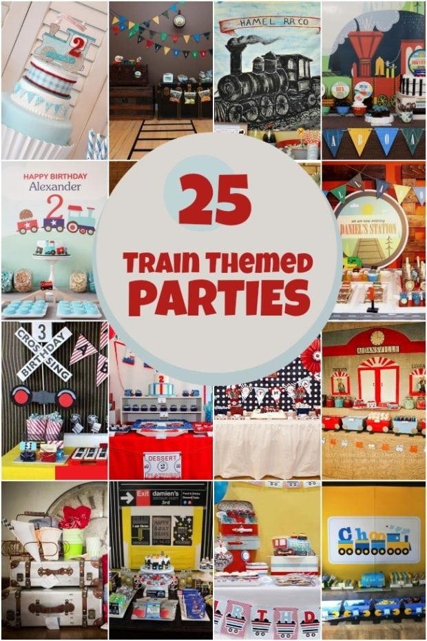 25 Train Themed Birthday Parties Spaceships And Laser Beams