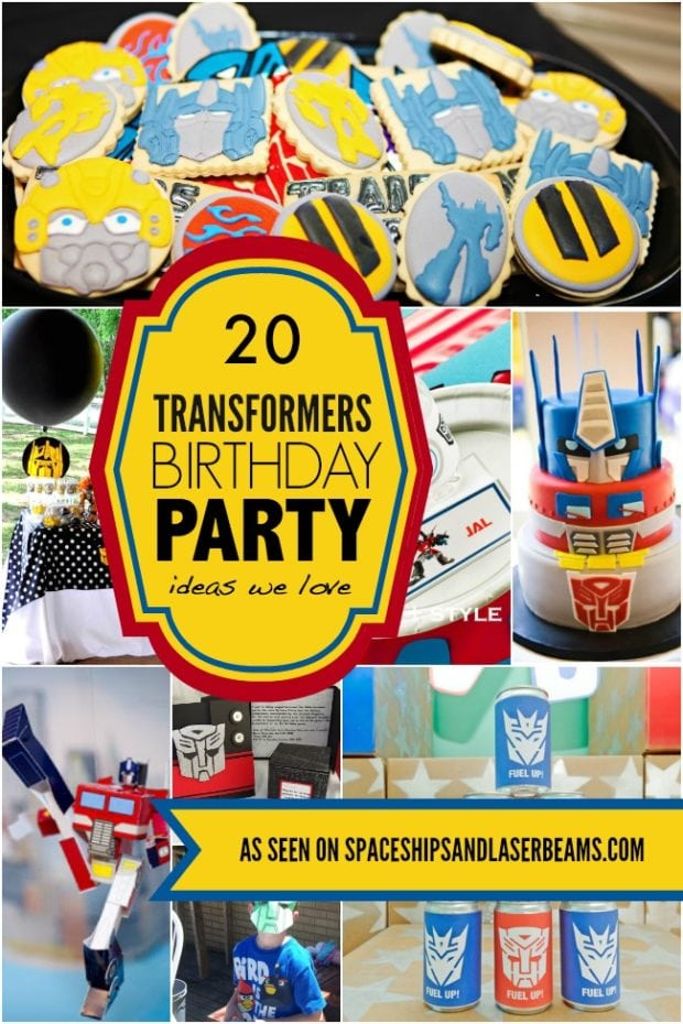 20 Transformers Birthday Party Ideas We Love Spaceships