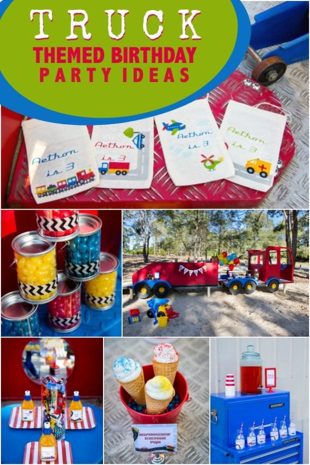 A Truck Themed Boy S 3rd Birthday Party Spaceships And