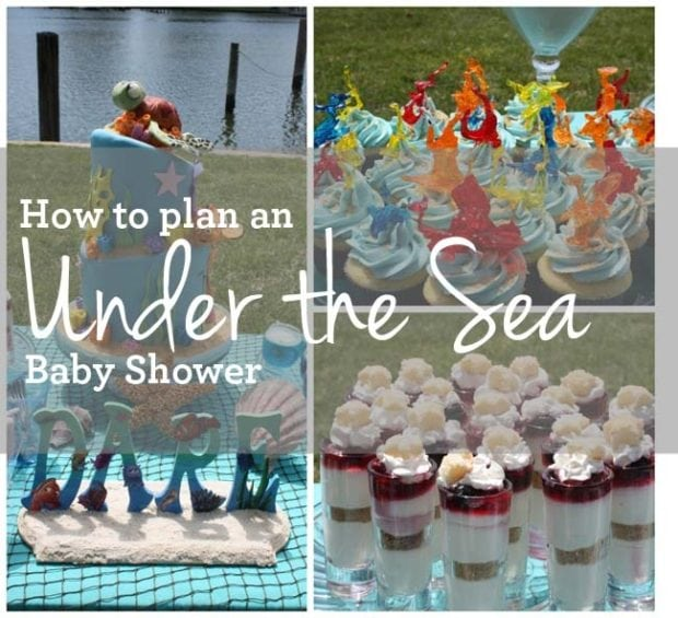 how to plan an under the sea boy baby shower spaceships and laser