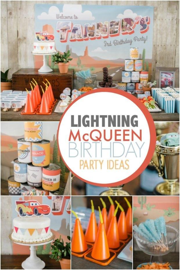 a lightning mcqueen themed boy u0026 39 s birthday party