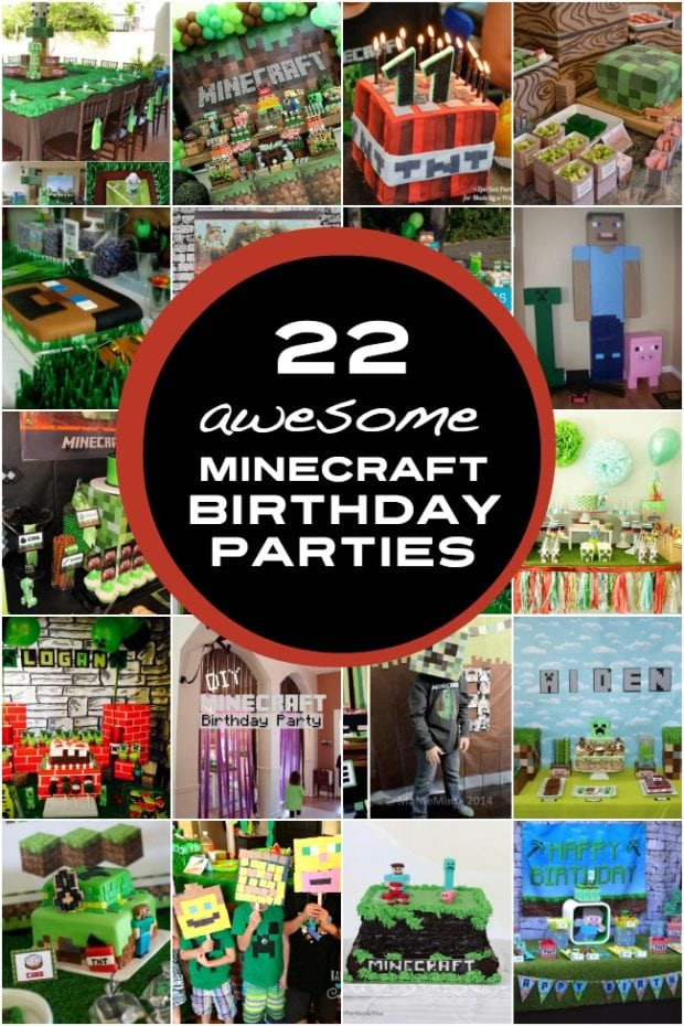 22 Minecraft Birthday Parties For Boys Spaceships And