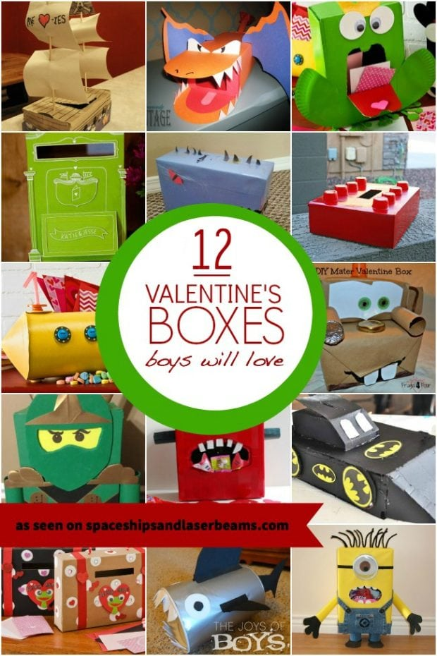 12 valentine boxes boys will love spaceships and laser beams - Boys Valentine Boxes