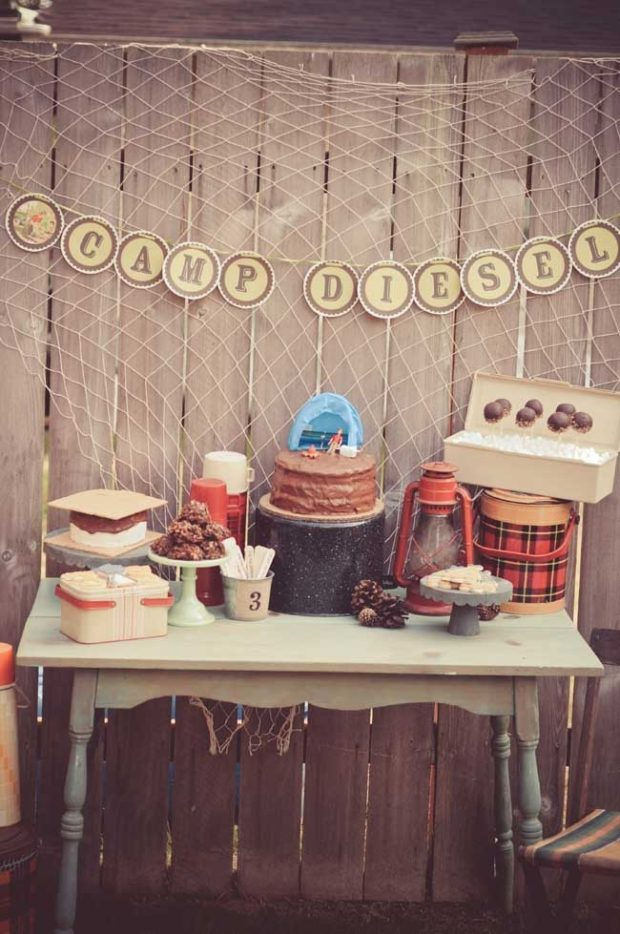 Vintage Camping 3rd Birthday Boy Party Ideas