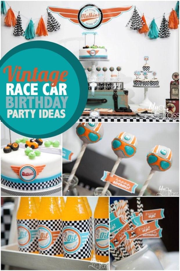 Formula One Style Boy S Race Car Birthday Party
