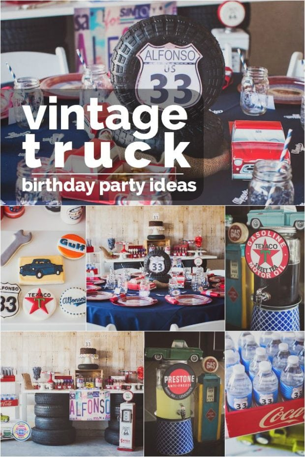 Vintage Truck Themed Birthday Party