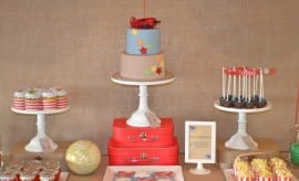Vintage Airplane Dessert Table Birthday Party 904394 000