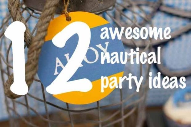 12 Nautical Birthday Party And Baby Shower Ideas | Spaceships And Laser  Beams