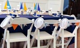 Vintage Nautical Birthday Party Dessert Table Tablescape Decor 9