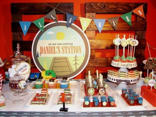 Vintage Train Birthday Party Boy Bash Spaceships And