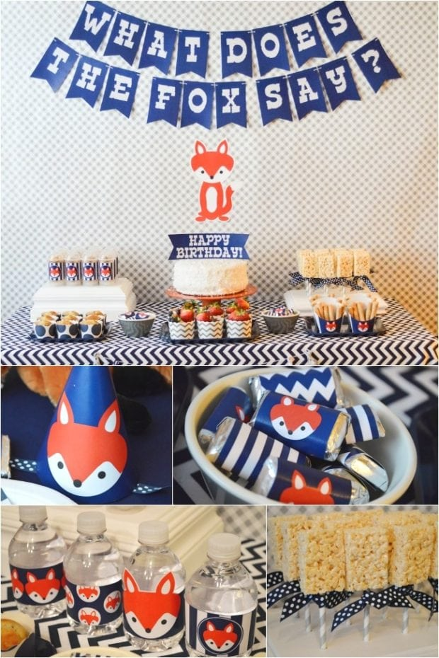 What Does The Fox Say Boy S Birthday Party Spaceships