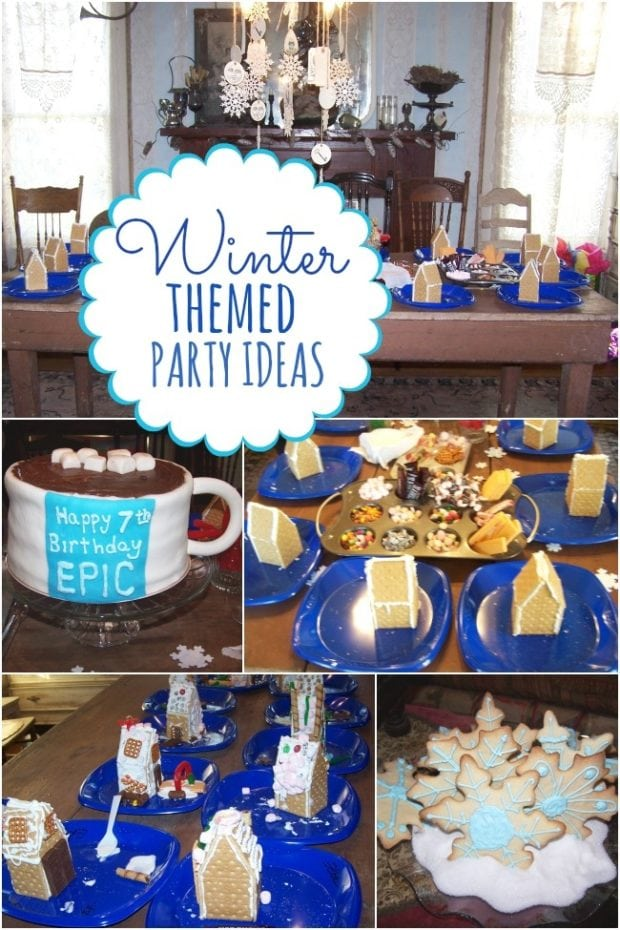 Boy 39 s winter themed 7th birthday party spaceships and for Decoration ideas 7th birthday party