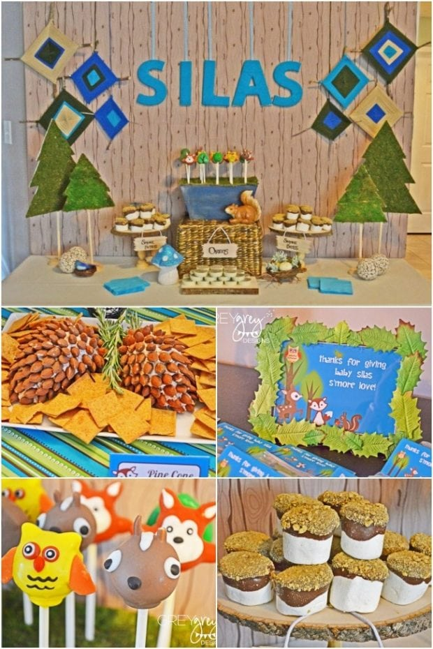 Woodland Animal Baby Shower Food