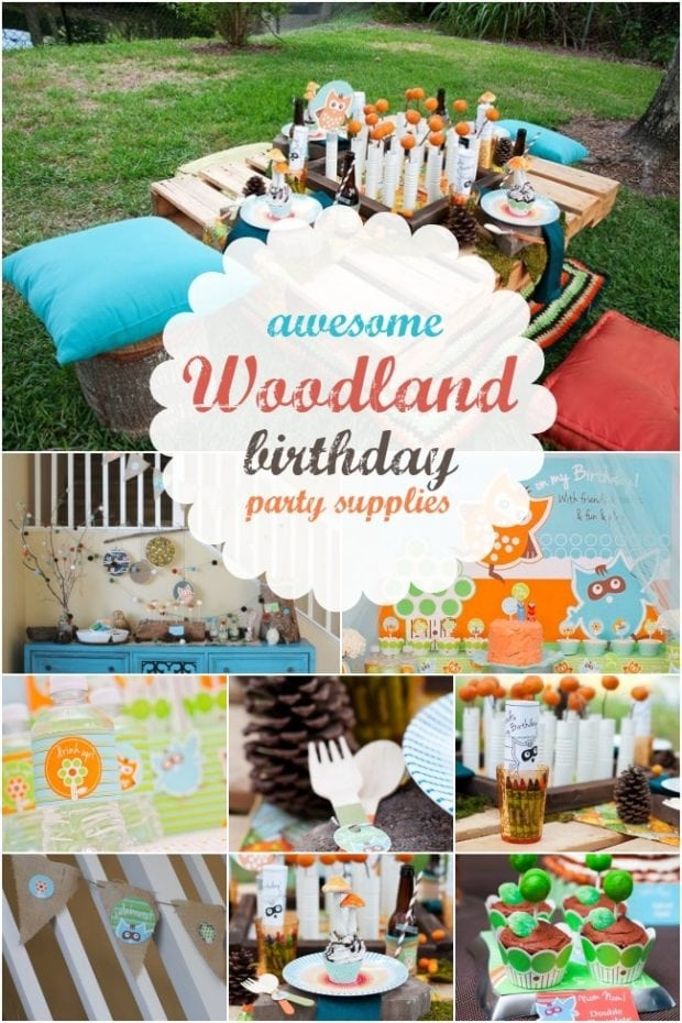 Woodland Themed Birthday Party Supplies   Spaceships and ...