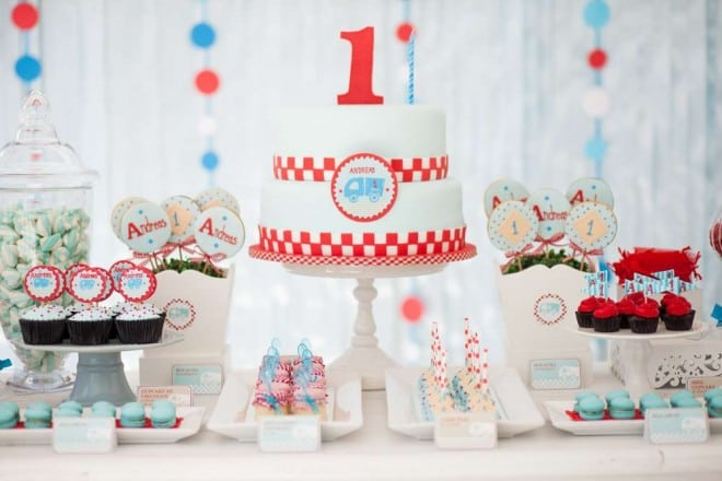 Boy's Truck Themed Birthday Party Ideas