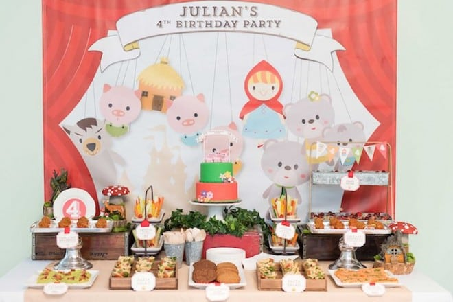 Fairytale Puppet Birthday Party Ideas