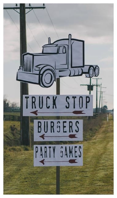 Boy's Truck Stop Themed Birthday Party
