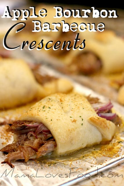 Apple Bourbon Barbecue Pulled Pork Crescents