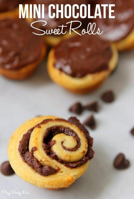 Mini Chocolate Sweet Rolls