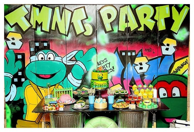 Boy's TMNT Grafitti Birthday Party Idea