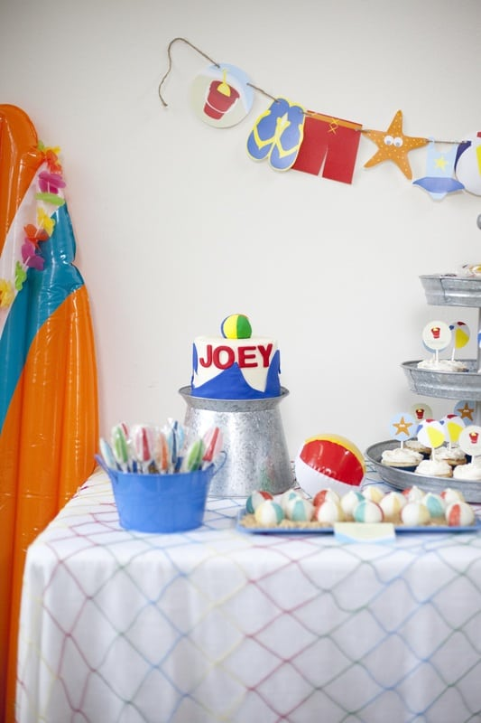Boy's Beach Themed Birthday Smash CAke