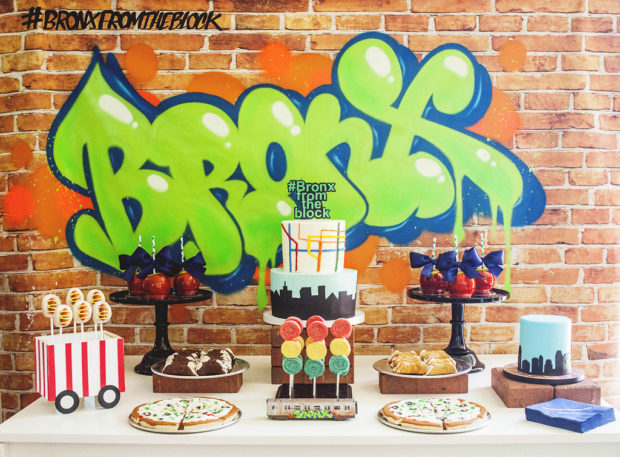 Boys New York City Dessert Table
