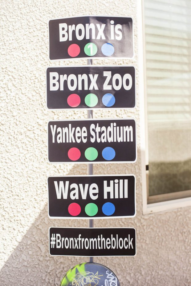 Boys New York City Street Sign Idea