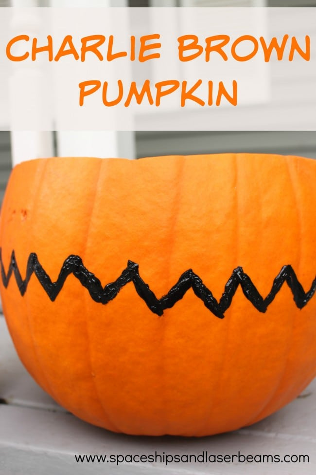 Charlie Brown Pumpkin Idea