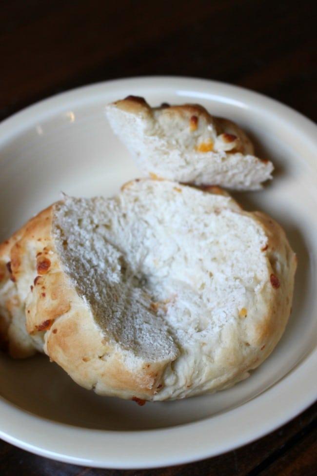 Cheddar & Garlic Bread Bowl