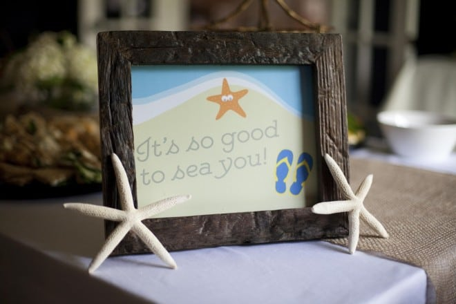 Custom Printables for a Boy's Beach Themed Birthday Party