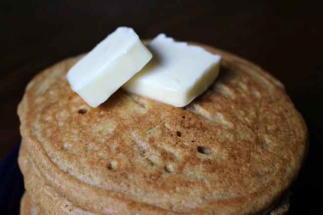 Homemade Whole Wheat Pancakes