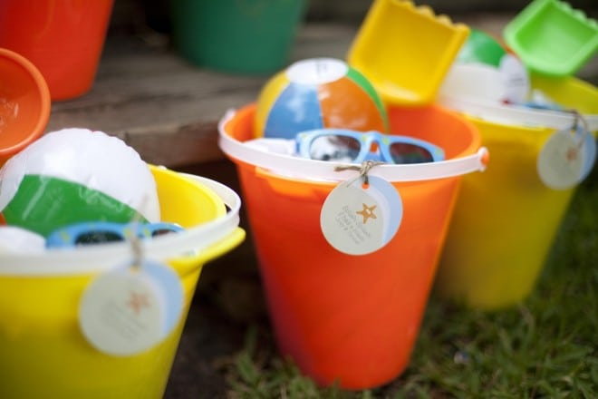 Kid's Beach Themed Birthday Party Favors