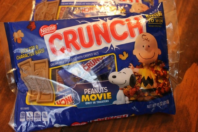 Nestle Crunch Peanuts Movie Characters