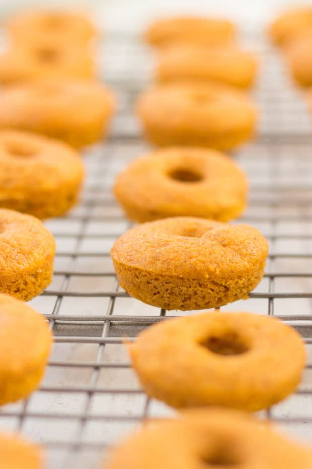 Oven baked pumpkin spice donuts