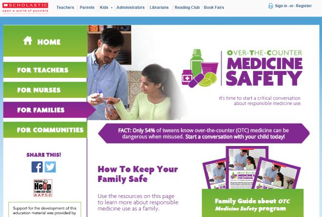 Scholastic OTC Med Safety