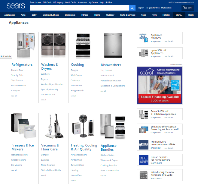 Sears Appliances Online