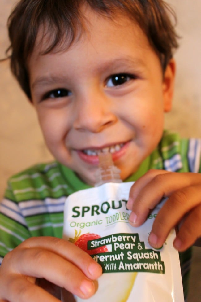 Shay Enjoying Sprout