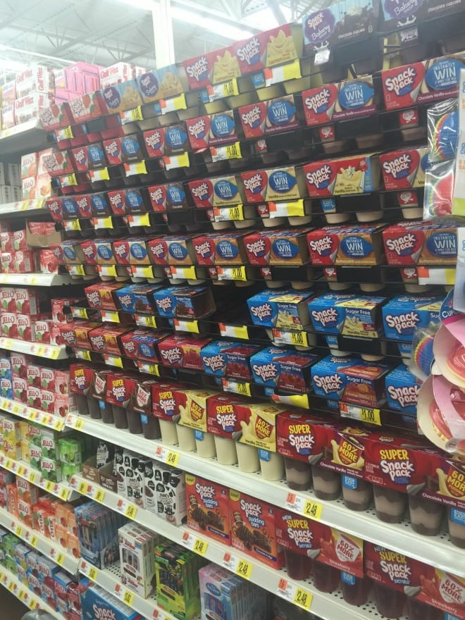Snack Pack Pudding at Walmart
