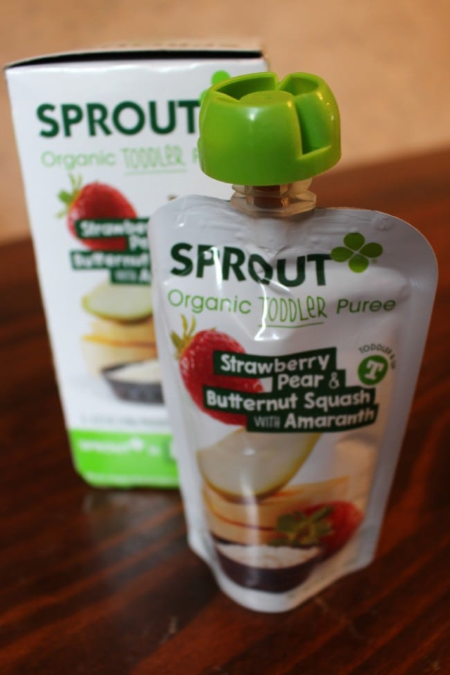 Sprout Organic Toddler Puree Flavors