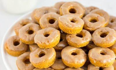 baked pumpkin spice mini donuts