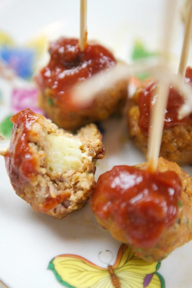 Meatballs with Cheese Inside