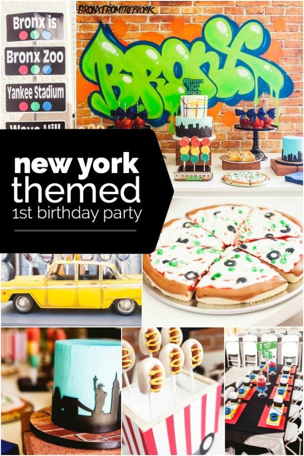 New York Themed First Birthday Party Ideas