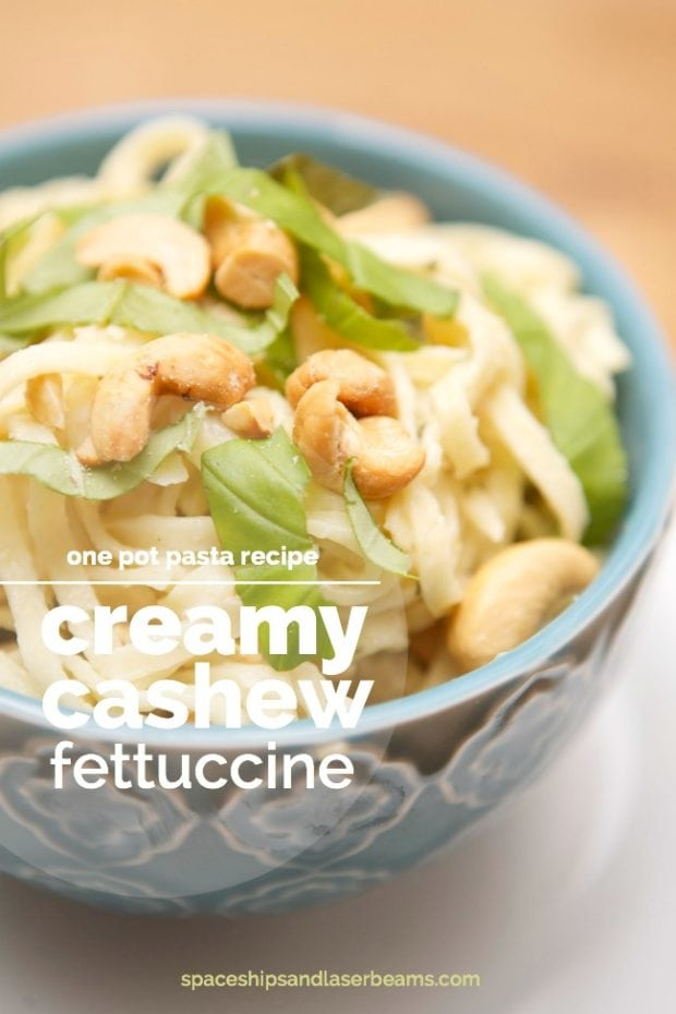 Easy One Pot Pasta Recipe: Creamy Cashew Fettuccine