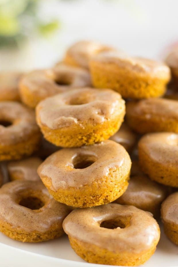 pile of baked pumpkin spice donuts
