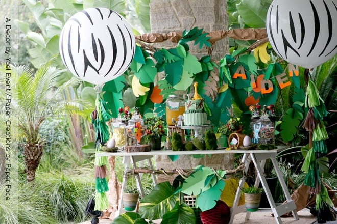 Boy's Jungle Themed Birthday Party